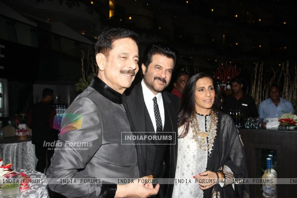 Subroto Roy, Anil Kapoor with wife Sunita Kapoor at Sahara Pariwar Bash For Padma Shri Sridevi