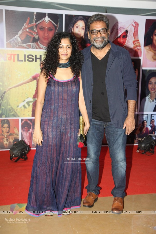 Gauri Shinde with R. Balki at Sahara Pariwar Bash For Padma Shri Sridevi