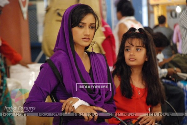A still of Rati Pandey and Shruti Bhist from Hitler Didi