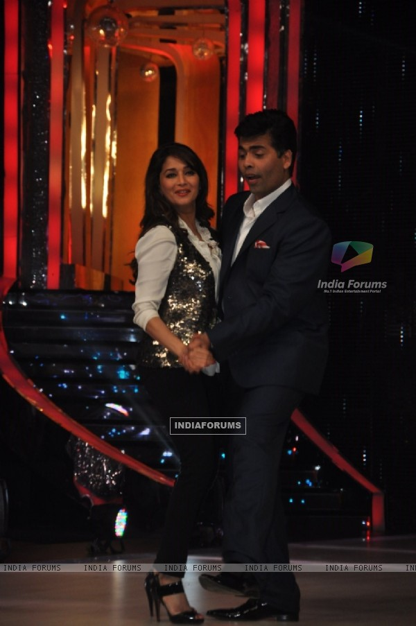 Karan Johar and Madhuri Dixit at 'Jhalak Dikhla Jaa' Season 6 Press Conference