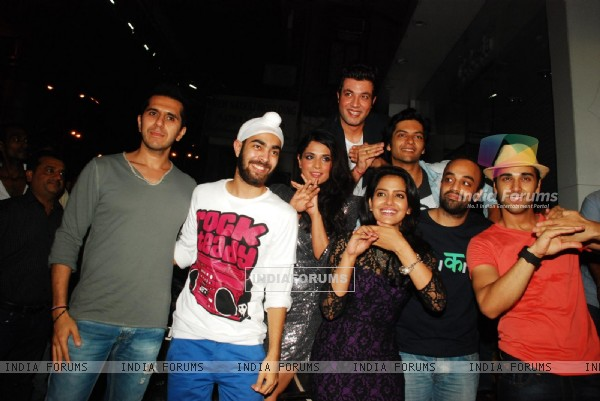 Fukrey team at Fukra Party celebrating success of 2nd division students