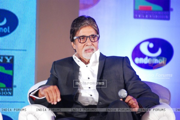 Amitabh Bachchan attended the press conference for announcement of the 'fiction show'
