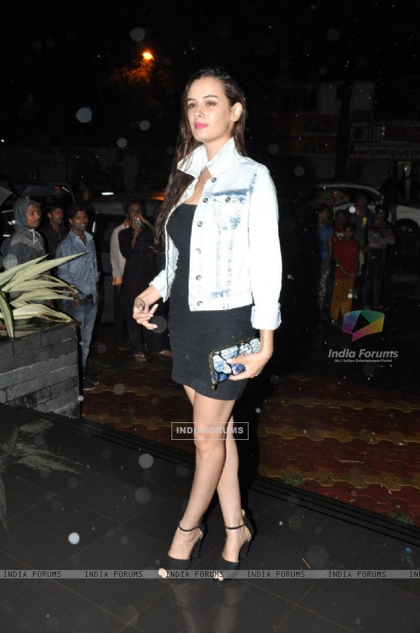 Evelyn Sharma at Amisha Patel Birthday Party and Film Shortcut Romeo promotion