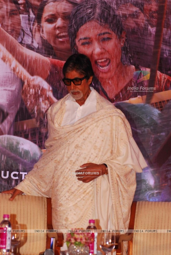 Amitabh Bachchan at Promotion of upcoming film Satyagraha