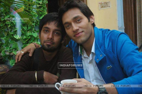 Sumit Vats on Hitler Didi sets with crew member