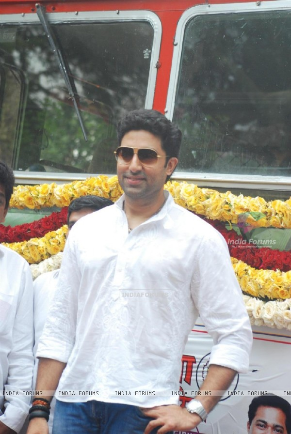 Abhishek Bachchan at Flag off ceremony of BEST's new special busses