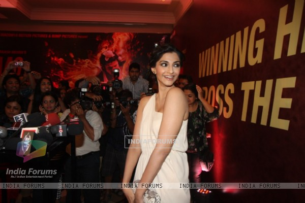 Sonam Kapoor looked beautiful at the sucess party of  Bhaag Milkha Bhaag