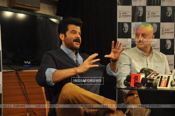 Anil Kapoor & Anupam Kher at An Actor Prepares: Behind The Success