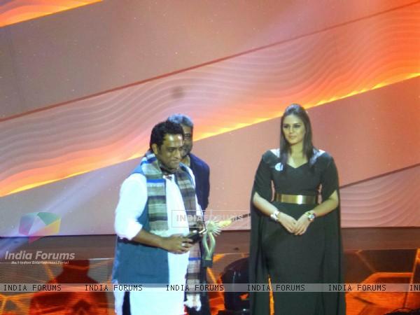 Anurag Basu And Huma Qureshi at 14th IIFA awards at Macau