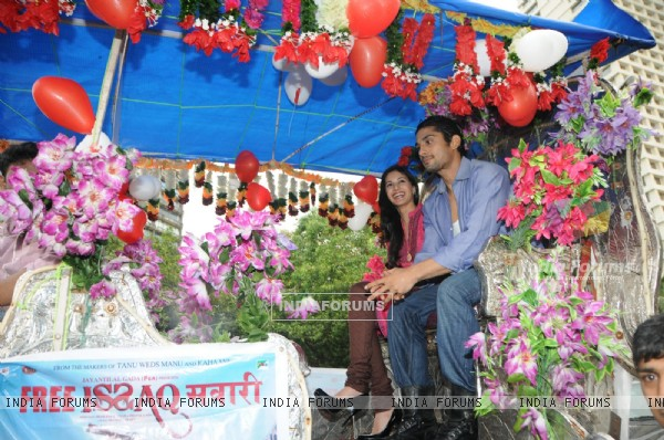 Prateik Babbar and Amyra Dastur promoting their upcoming film Issaq