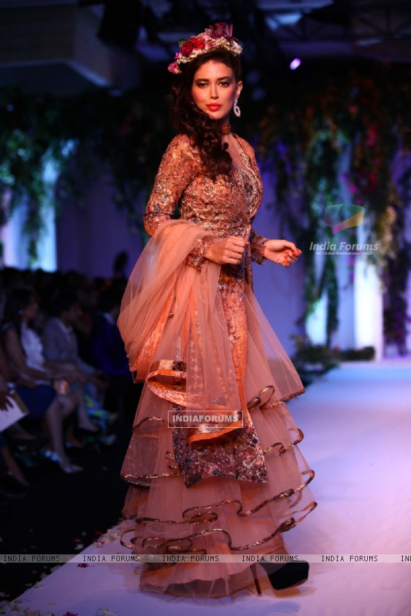 Neha Dhupia for the Aamby Valley India Bridal Fashion Week 2013