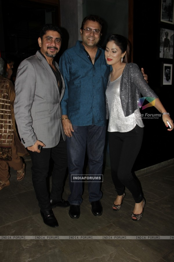 Rajan Shahi, Sanjeev Seth and Hina Khan at Producer Rajan Shahi's Bash