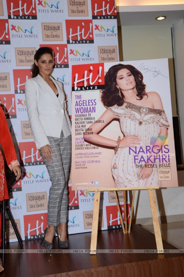 Nargis Fakhri Unveils The Latest Cover of Hi BLITZ Magazine