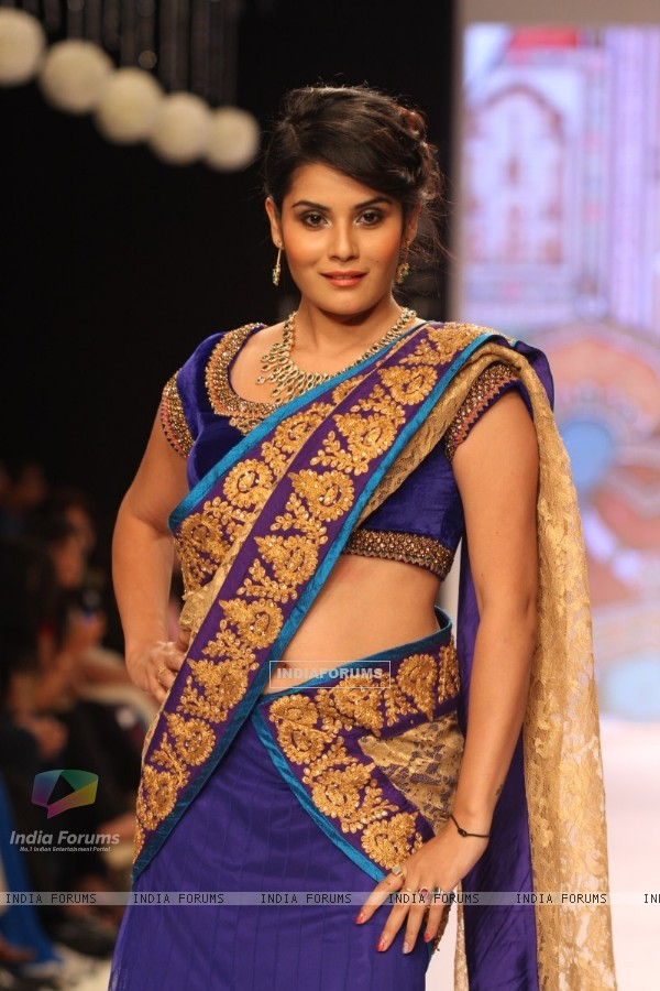 TV Celebs walk the ramp for Gitanjali Gems at IIJW 2013