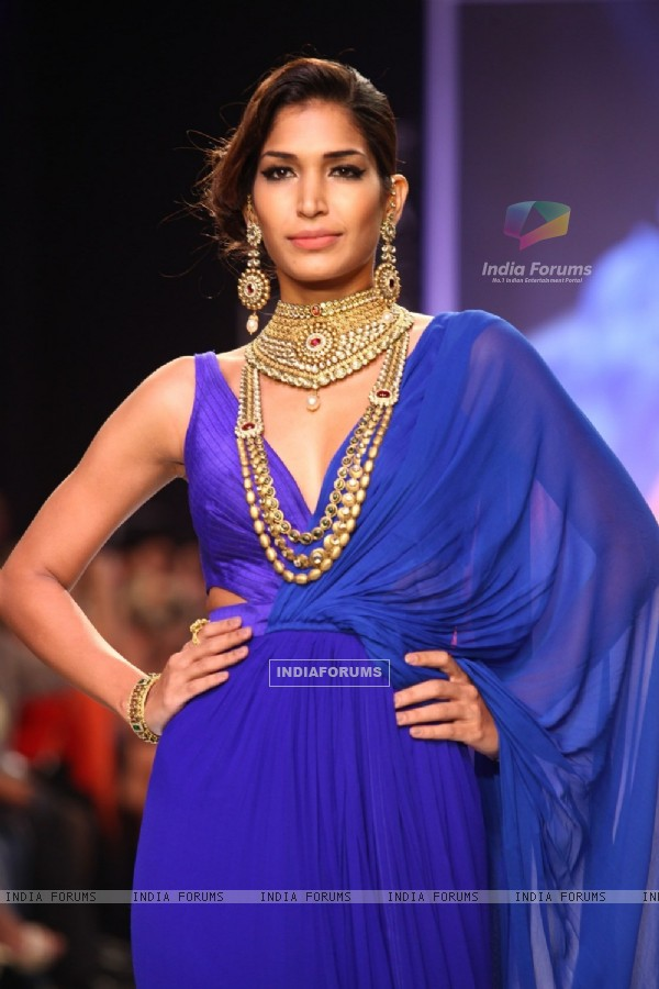 Models walks the ramp at IIJW 2013 Day 4