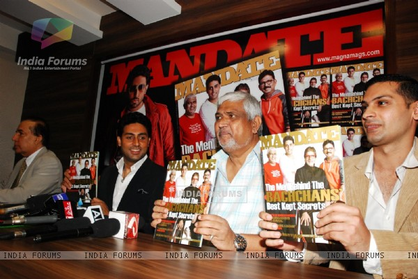 Abhishek Bachchan during the unveiling of magazine Mandate