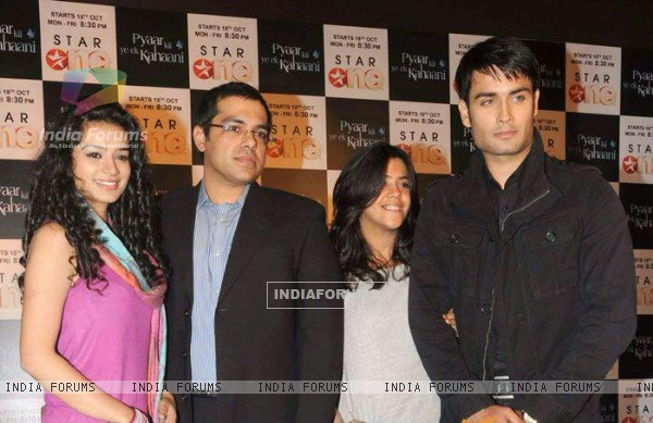 Vivian Dsena and Sukirti kandpal during the Launch of Pyaar ki ye ek kahani