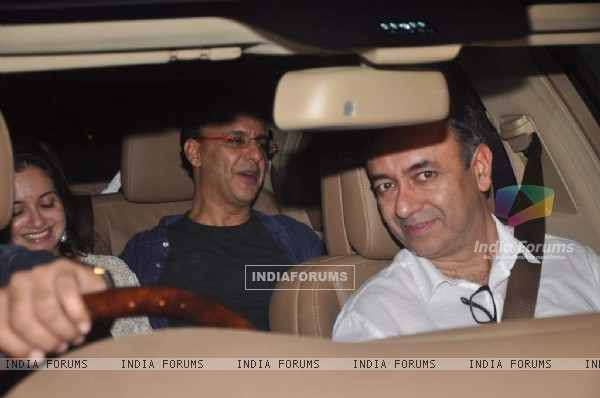 Vidhu Vinod Chopra and Rajkumar Hirani at Shahrukh Khan's Grand Eid Party
