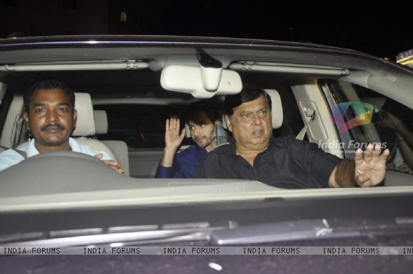The kid on the block-Varun Dhawan with his father David Dhawan at Shahrukh Khan's Grand Eid Party