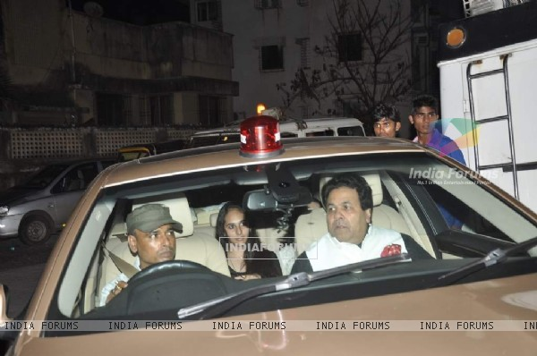 Politician Rajiv Shukla arrives at Shahrukh Khan's Grand Eid Party at Mannat