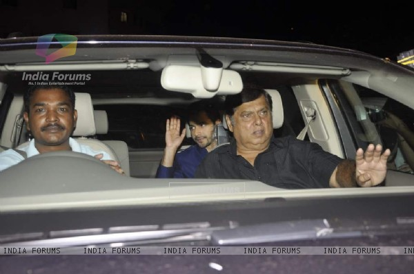 David Dhawan with son Varun Dhawan arrives at Shahrukh Khan's Grand Eid Party