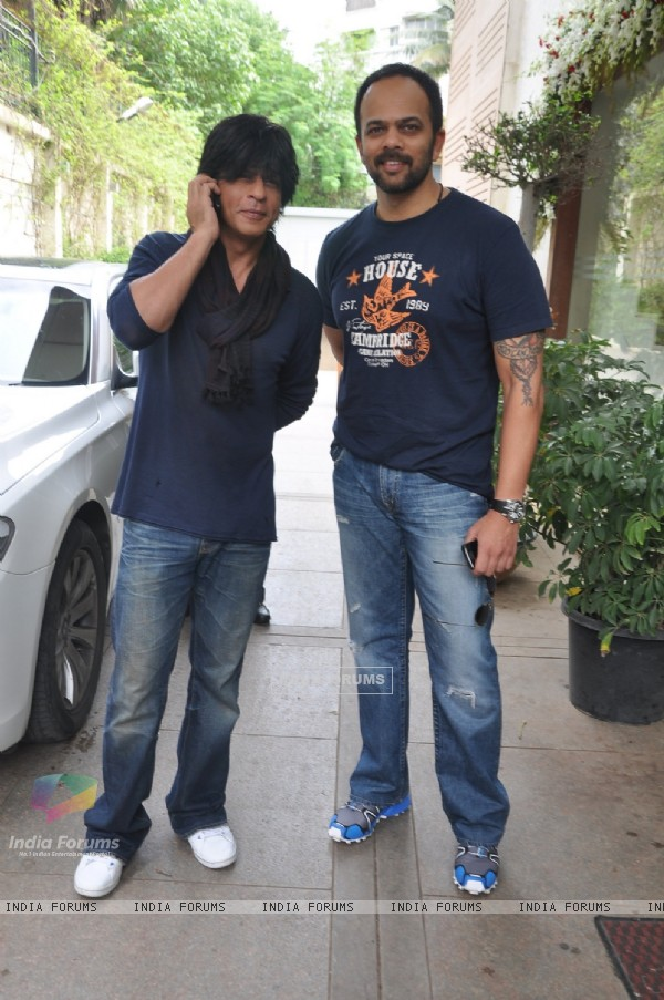 Shahrukh Khan and Rohit Shetty promotes Chennai Express