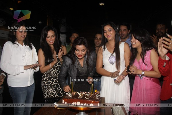 South actress Mansi Trishna Pritam's birthday celebration