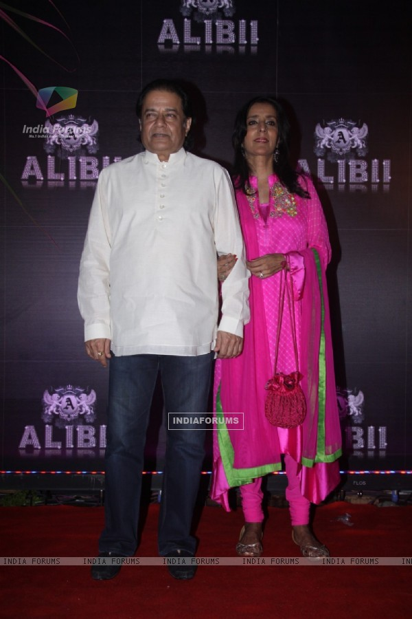 Anup Jalota along with wife Medha at Sridevi 50th birthday