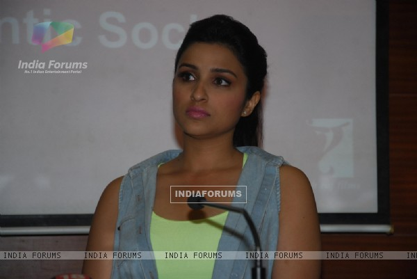 Parineeti Chopra listens to the talk at the research launch