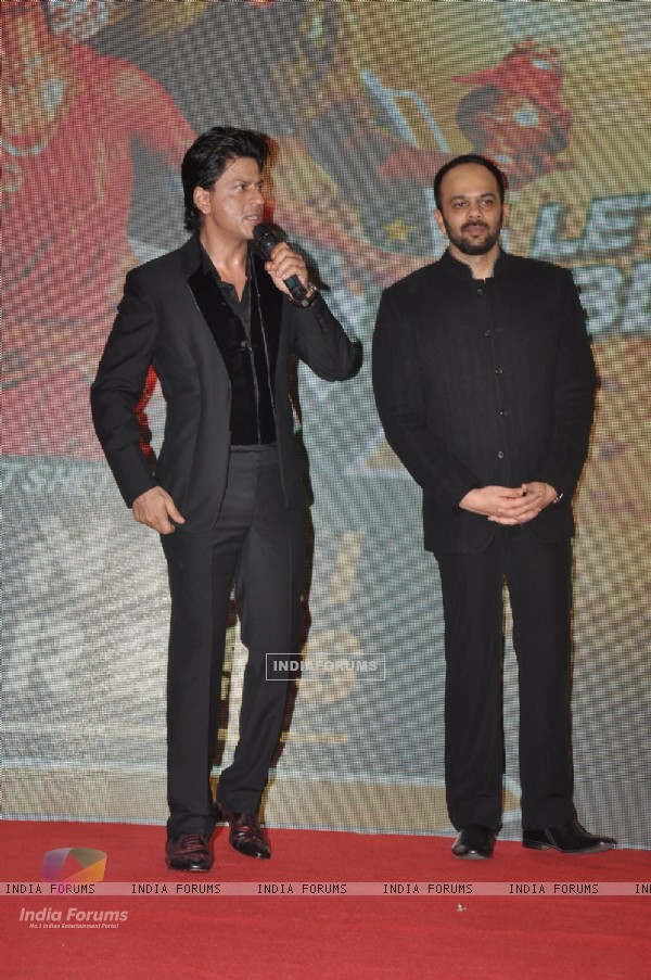 Shahrukh Khan, Rohit Shetty at Chennai Express success party