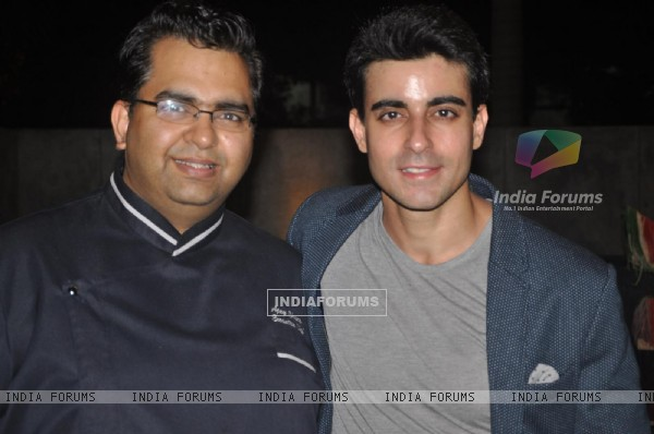 Gautam Rode With Master Chef Judge Ajay Chopra at the Party