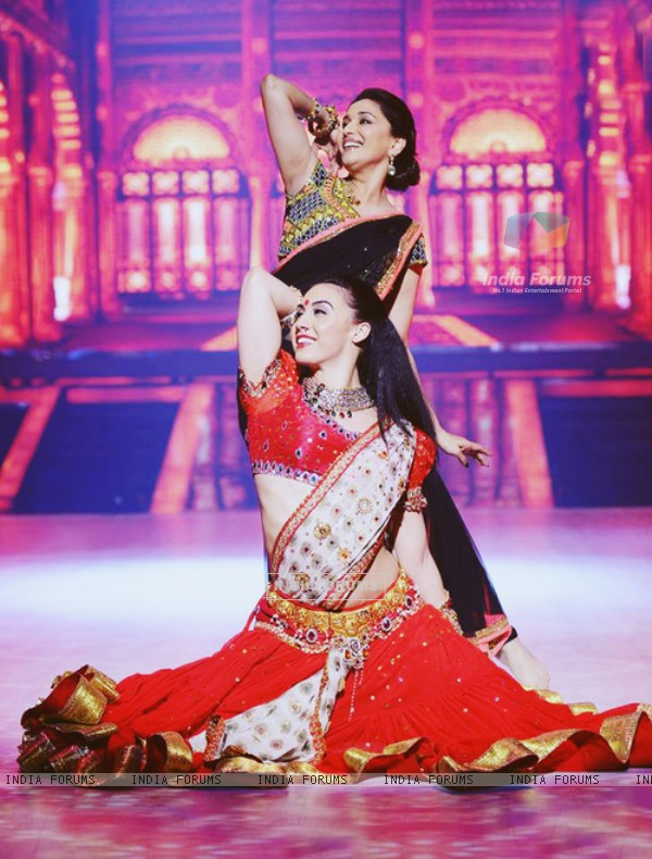 Lauren Gottlieb and Madhuri Dixit