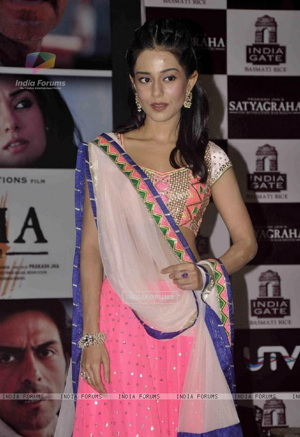Amrita Rao at Satyagraha movie team during the promotion