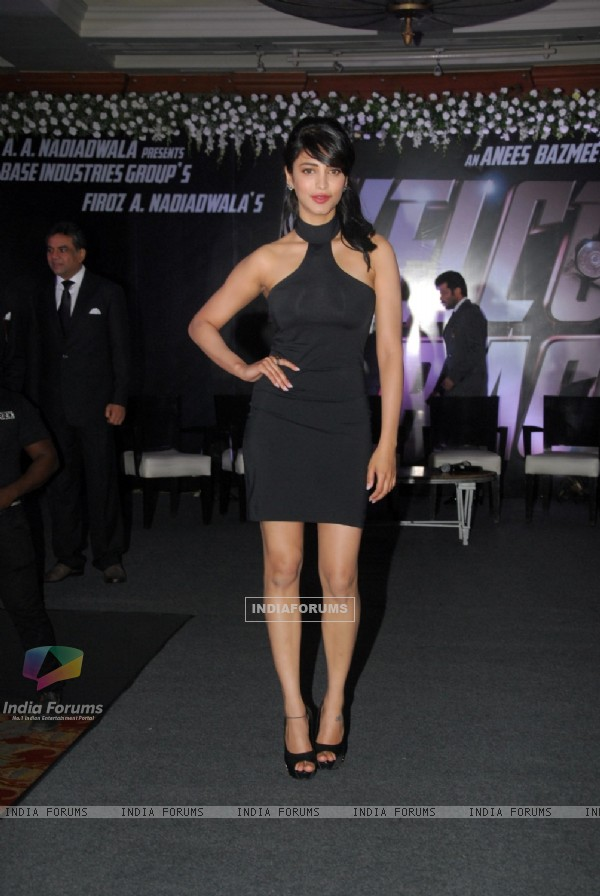 Shruti Hasan at the Welcome Back Movie Launch
