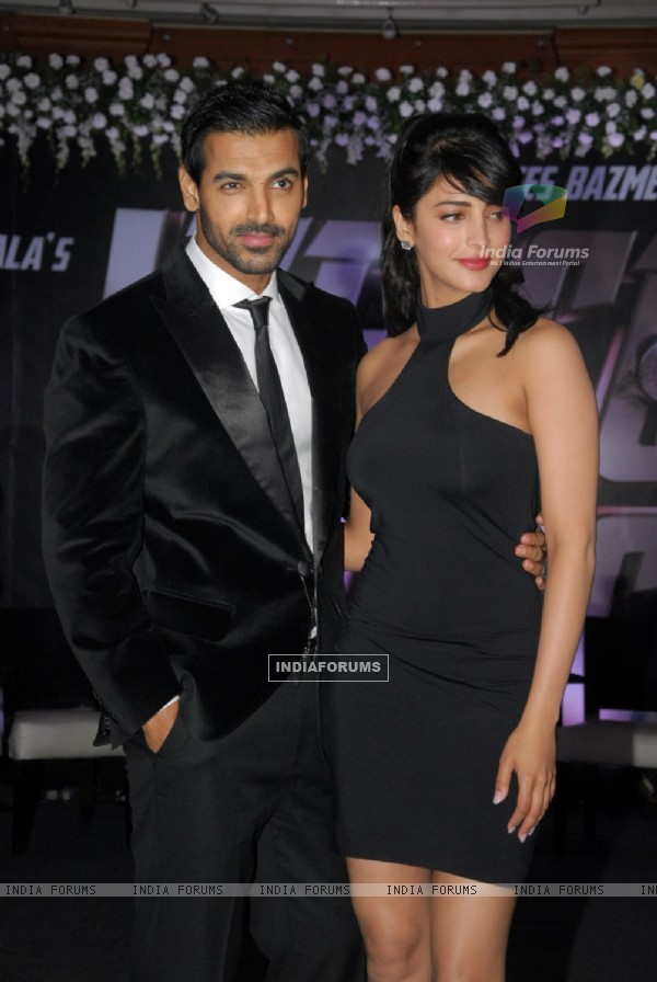 John Abraham and Shruti Hassan at the Welcome Back Movie Launch