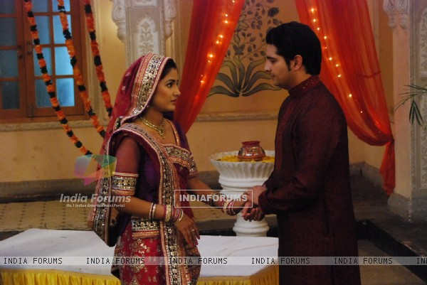 Hina Khan and Karan Mehra celebrating Janamastmi in Yeh Rishta Kya Kehlata Hai