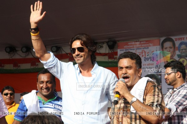 Arjun Rampal was at the Dahi Handi celebrations