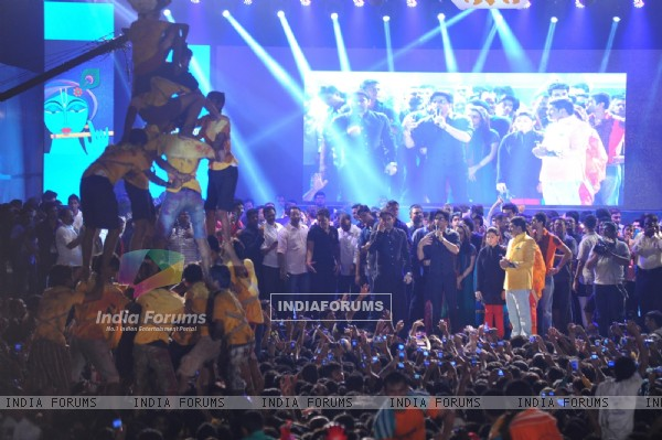 Shahrukh Khan at the Dahi Handi celebrations