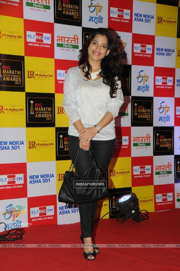 Priya Bapat at BIG Marathi Entertainment Awards, Winner of BIG Entertaining Actor of the year