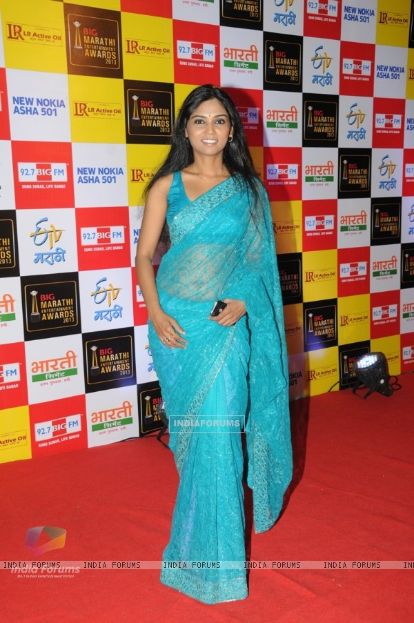 Usha Jadhav at BIG Marathi Entertainment Awards