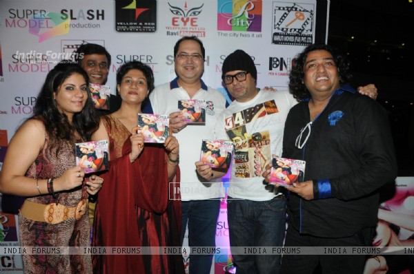 arranum Malik, Navin Batra, DJ sheizwood with Ravi Ahlawat at the Super Model - Music Launch