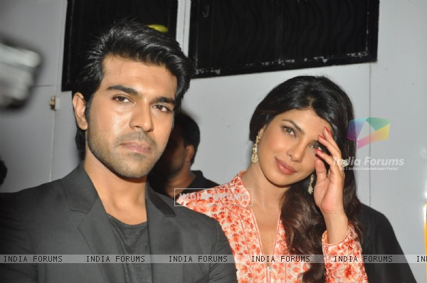 Ram Charan and Priyanka Chopra were seen at their film, Zanjeer's promotions