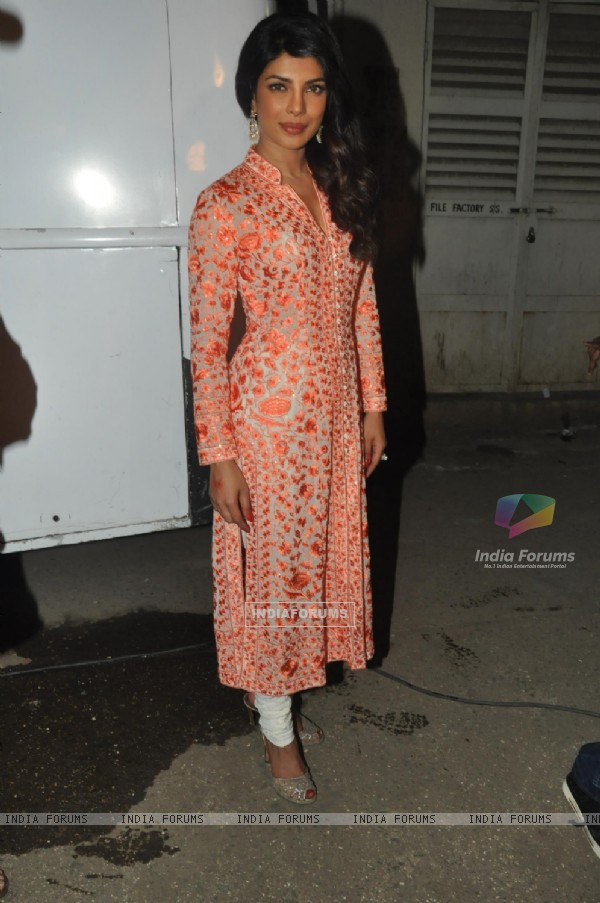 Priyanka Chopra was seen at the film, Zanjeer's promotions