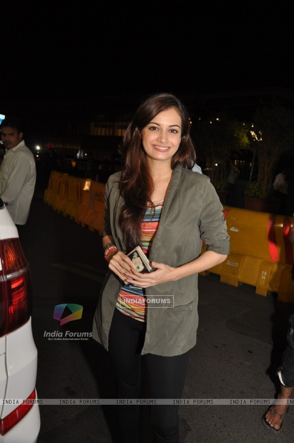 Dia Mirza at Mumbai Airport leaving for SAIFTA