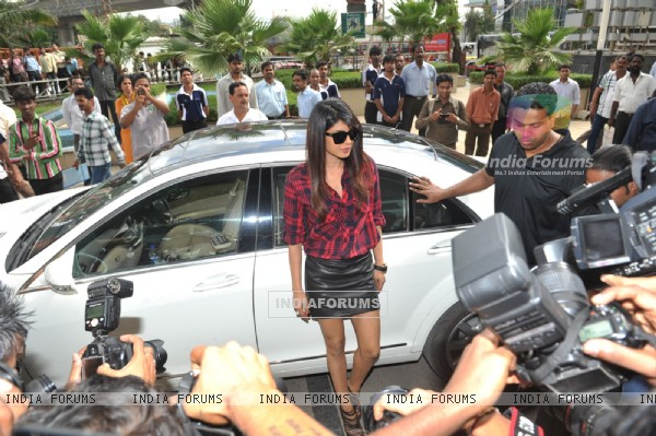 Priyanka Chopra arrives at the launch of the Femina Coverpage