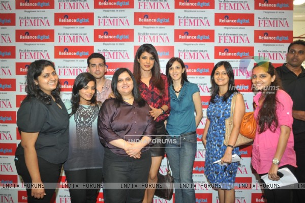 The Core team of Femina Magazine with Priyanka Chopra at the launch