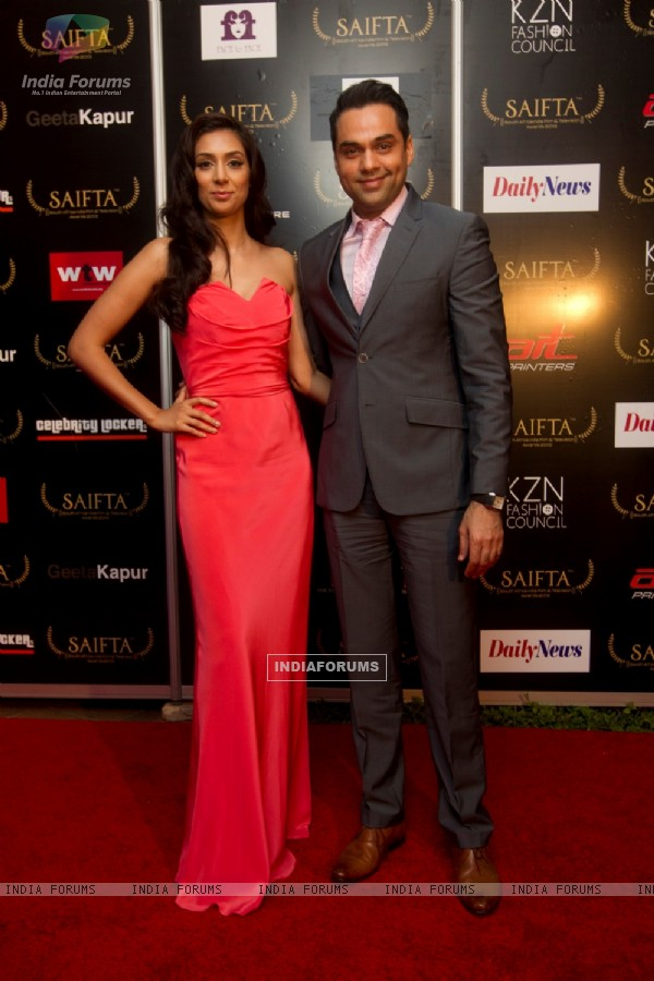 Abhay Deol and Preeti Desai at the red carpet of SAIFTA