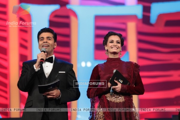 Karan Johar and Dia Mirza hosting at SAIFTA