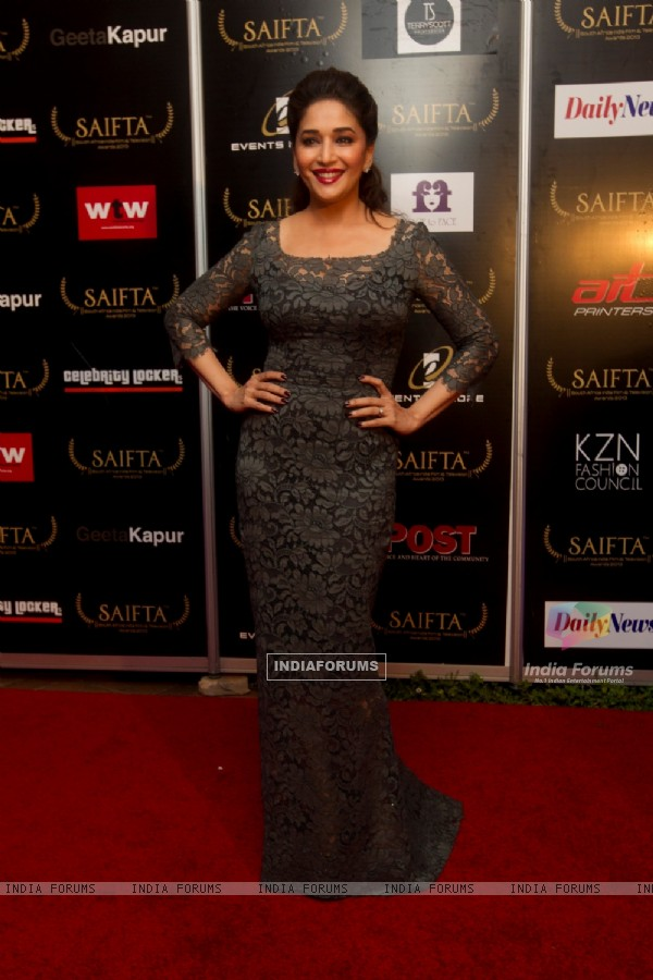 Madhuri Dixit at the red carpet of SAIFTA