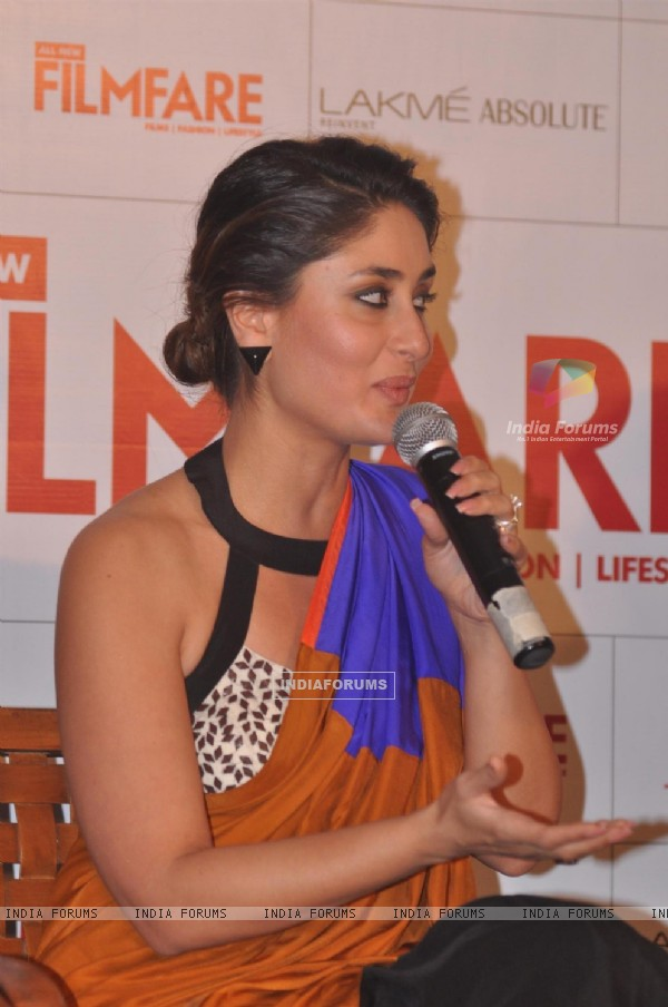 Kareena speaks at the launch Filmfare magazine's September cover page